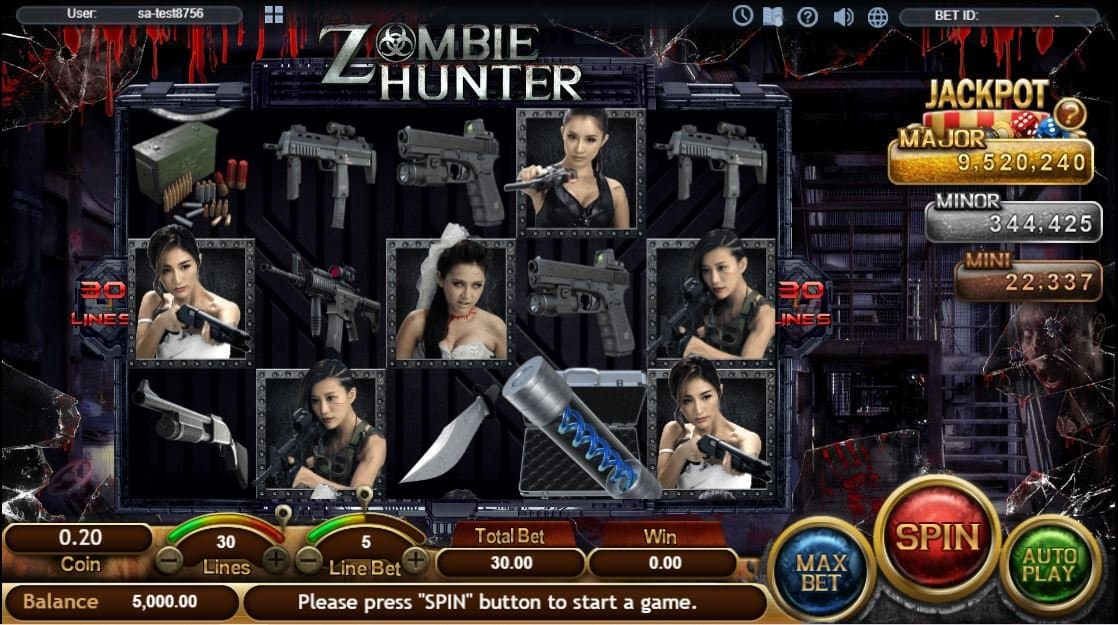 Zombie Hunter Slot Game